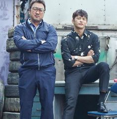 """Ma Dong-seok and Seo In-guk's chemistry in """"38 Revenue Collection Unit"""" @ HanCinema :: The Korean Movie and Drama Database"""