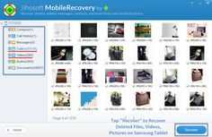 Accidentally deleted pictures, videos, and other files on your Samsung Tablets? An great tool, Jihosoft Android Data Recovery can perfectly restore deleted files on Samsung Tab, give it a try.