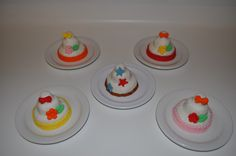 mini cakes I made for my grand daughter's tea party