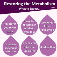 Restoring the metabolism isn't some fad diet or a new trend to hop on for a few weeks. To restore the metabolism you will need to unlearn a lot of things the dieting industry teaches you because all those restrictive, low calorie and super intense workout programs we have all put our bodies through at some point in our life have wrecked havoc on our body and actually SLOWED DOWN our metabolism. Nutrition Tips, Diet Tips, Polycystic Ovarian Syndrome, Pcos Diet, Fad Diets, Intense Workout, New Trends, Workout Programs, Metabolism
