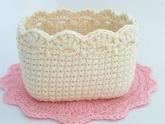Crochet Square Basket Pattern Crochet Basket Tutorial