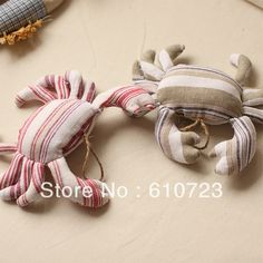 whole sales,Mediterranean style of Marine lives in cotton and linen cloth art furnishing articles pendant crab fish(China (Mainland)) Fabric Toys, Fabric Decor, Fabric Crafts, Sewing Toys, Sewing Crafts, Sewing Projects, Softies, Fabric Fish, Doll Toys