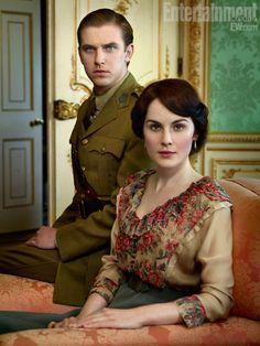 Matthew Crawley and Lady Mary.