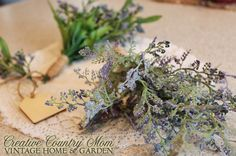 Creative Country Mom's: A Homemade Tussie-Mussie. A Perfect Little Accen. Spring Has Sprung, Funky Junk, Cut Flowers, Spring Time, How To Dry Basil, Pond, Tea Party, Flower Arrangements, Christmas Decorations