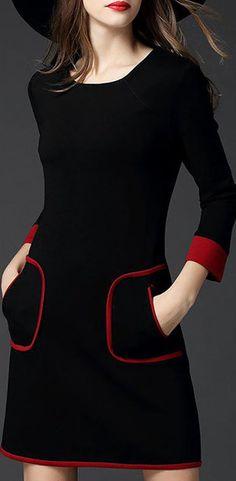 a94ea39547e Hot Sale!Plus Size Women Black Shift Cotton Long Sleeve Dress Sleeve Dress  Formal
