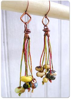 How to Use Colored Cords in Earrings Tutorials - The Beading Gems Journal