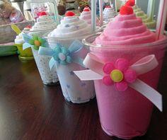 Receiving blanket milkshakes...super cute DIY baby shower gift