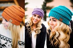 Stay warm this fall and winter wearing one of these adorable C.C. beanies! Available in so many cute colors for 60% off at pickyourplum.com