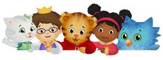 Cake topper image for Daniel Tiger party