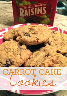 These carrot cake cookies are amazing! They're chewy and full of flavor from cinnamon, nutmeg and cloves. There are plenty of raisins that add a perfect amount of sweetness. Your kids will never know you're sneaking them carrots when they eat these! Delicious!