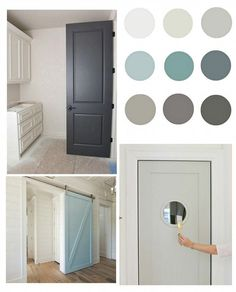 Interior Door Paint Colors to Inspire You! List of beautiful paint colors for painting interior doors.List of beautiful paint colors for painting interior doors. Interior Door Colors, Painted Interior Doors, Door Paint Colors, Best Paint Colors, Painted Front Doors, Gray Interior, Farmhouse Interior, Interior Barn Doors, Home Interior Design