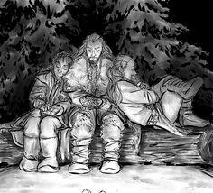 Thorin, Fili, and Kili...reflection