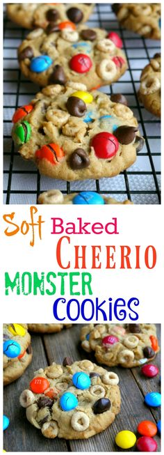 Soft Baked Cheerio Monster Cookies are packed with all the things you love from NoblePig.com.