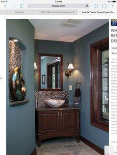 Bathroom Colors Brown And Blue