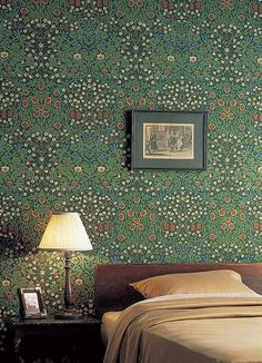 [William Morris wallpapers like this are just beautiful. I'm so glad they're still made.] 'Blackthorn' by William Morris features pretty meadow flowers of fritilery, viola & daisy are overlain with the white blossoms of hedge blackthorn Fabric Wallpaper, Of Wallpaper, Flower Wallpaper, Designer Wallpaper, Pattern Wallpaper, Classic Wallpaper, Amazing Wallpaper, Wallpaper From The 70s, Wallpaper Canada