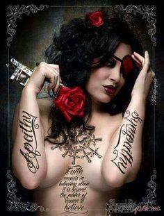 Where Professional Models Meet Model Photographers Sexy Tattoos, Life Tattoos, Tattoos For Women, Cool Tattoos, Tatoos, Awesome Tattoos, Crazy Tattoos, Tattooed Women, Ink Addiction