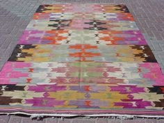 Kilim in gorgeous happy color