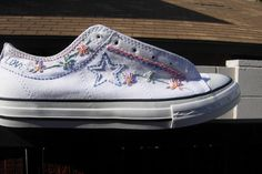 Flower Girl Hand Embroidered Converse