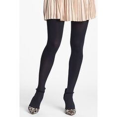 Nordstrom 'Everyday' Opaque Tights ($4.97) ❤ liked on Polyvore featuring intimates, hosiery, tights, black, opaque hosiery, nordstrom tights, opaque stockings, opaque pantyhose and opaque tights