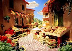 Paysages Magnifiques Entièrement en Nourriture (2)