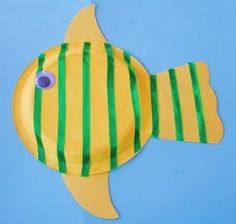 Paper plate fish with science, math and geography extensions