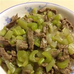 Skillet Beef and Celery Recipe on Yummly