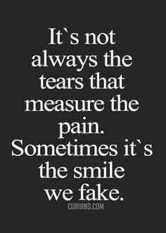 Its always the tears that measure the tears