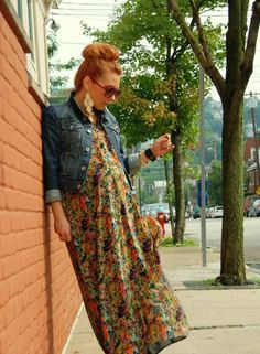 maxi maternity style