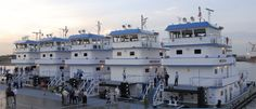5 Towboats lined up for inspection......
