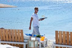 Summer Memories. Remembering drinking refreshing cocktails at Kuzina Mykonos Bar Restaurant a breath away from the sea of Ornos Beach.