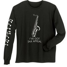 MUSICAL INSTRUMENT SHIRTS - SAXOPHONE