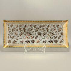 Georges Briard Persian Garden Rectangular Tray Platter Mid Century Modern Vtg.