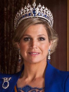 Diamond and Saphire Tiara made by Mellerio dits Meller, worn by Queen Maxima