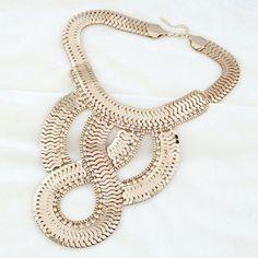 Punk Snake Bone Alloy Necklace #shoes, #jewelry, #women, #men, #hats, #watches, #belts
