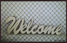 Wooden Welcome sign   vintage style  by Dana Turgeman