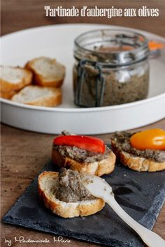 Tartinade d'aubergine aux olives