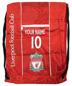 f2bbe3f040ea7 Buy Liverpool Cinch Bag Sack Backpack Book bag Add Your Name and Number