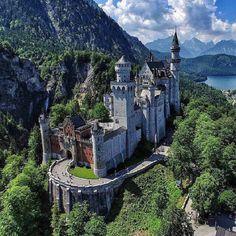 """Neuschwanstein Castle, Bavaria Photography by levanterman"" Beautiful Castles, Beautiful Buildings, Beautiful Places, Places Around The World, Around The Worlds, Imagen Natural, Places To Travel, Places To Visit, Luxury Boat"