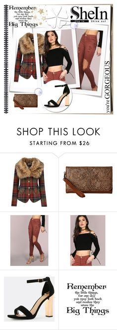 """""""shein-5"""" by gold-phoenix ❤ liked on Polyvore featuring Joe Browns, M&F Western and WALL"""