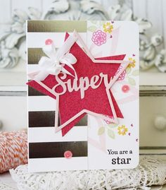 You Are A Star Card by Melissa Phillips for Papertrey Ink (May 2015)