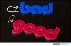 From Bea Correa (Brazil): GOOD&BAD earings