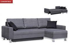Sofá cama modular convertible de microfibra CHERRY - Gris    499€