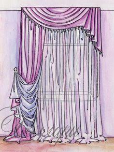 Виды штор - римские, французские,классические и др. Roman Blinds, Curtains With Blinds, Valance, Swags And Tails, Curtain Headings, Pelmets, Interior Decorating, Interior Design, Window Dressings