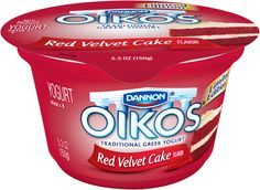 Oikos Red Velvet Cake Greek Yogurt