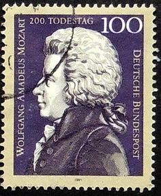 Wolfgang Amadeus Mozart Germany Music by PassionGiftStampArt