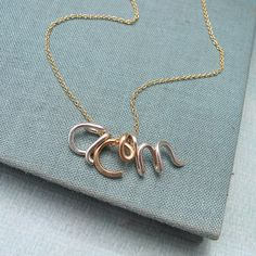 3 Initials Necklace in Silver and Gold