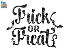 Halloween svg Trick or Treat SVG Bats october by FunLurnSVG