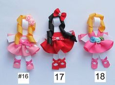 NWOT HANDMADE CHARACTER/DOLL HAIR BOW 4 TODDLERS~PICK UR STYLE OR