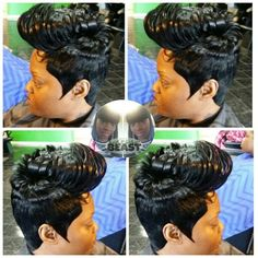 Short cuts quick weave 27 piece 27 Piece Hairstyles, Short Weave Hairstyles, Black Girls Hairstyles, Funky Hairstyles, Wedding Hairstyles, 27 Piece Quick Weave, Quick Weave Styles, Quick Weave Bob, 4c Natural Hair