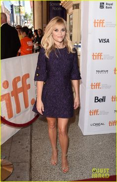 Reese Witherspoon Impresses in Purple at 'Good Lie' Premiere   reese witherspoon the good lie tiff 2014 05 - Photo